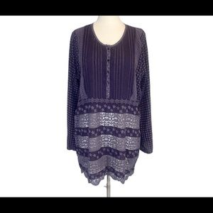 Johnny Was Boho Peasant Women's Top Size L